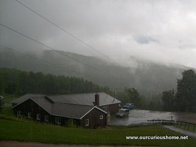 rainy day at Huntersfield Christian Training Center