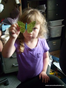 K's butterfly hair ornament