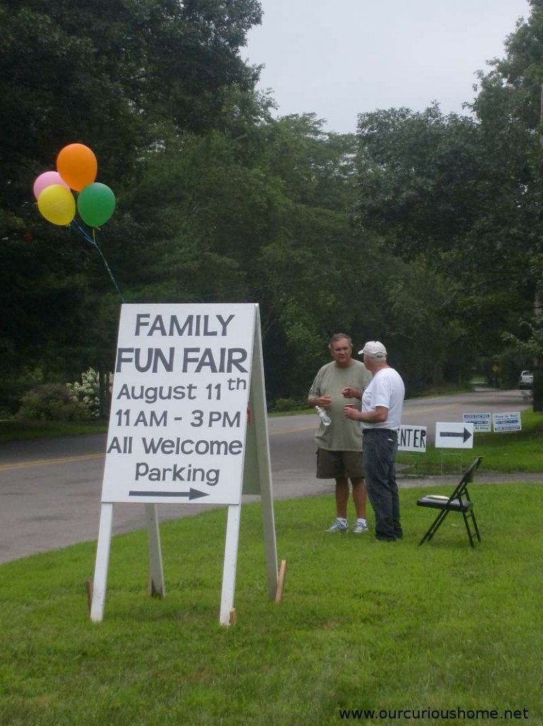 Rehoboth Baptist Church Family Fun Fair Sign at the front of the church