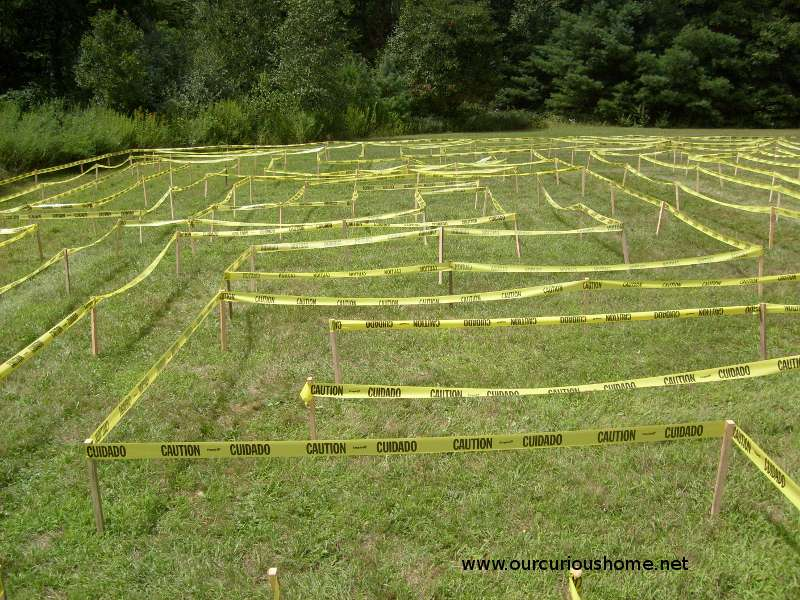 The completed Caution Tape maze