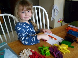 K organized the Cuisenart rods by color