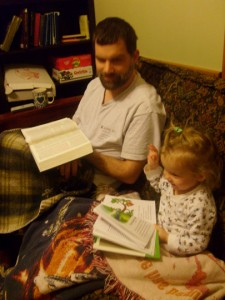 reading the Bible with Daddy