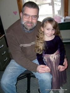 Daddy and K in her party dress