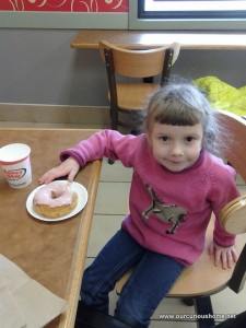 K at the doughnut shop