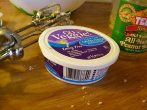 "the non-dairy ""cream cheese"""