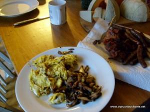eggs and mushrooms