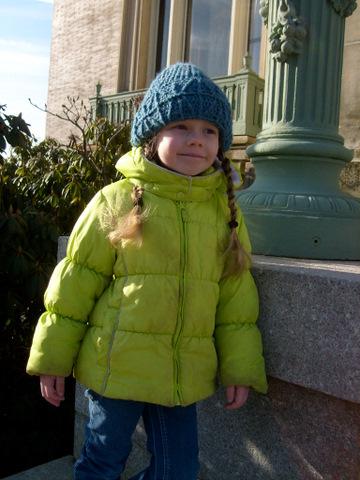 K wearing Daddy's Hat