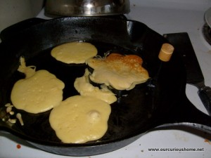baking the pancakes