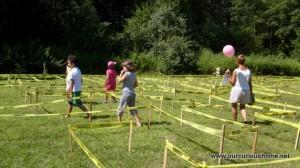 People Walking Through the 2013 Maze