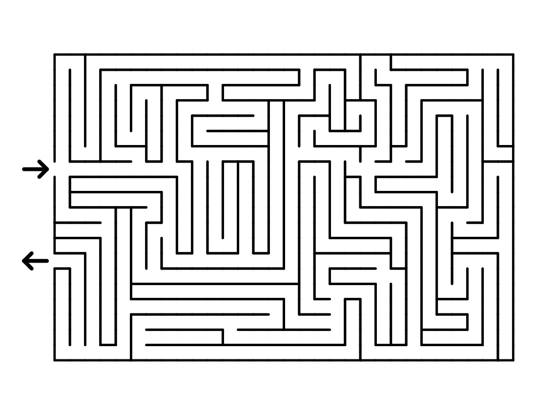 The completed maze
