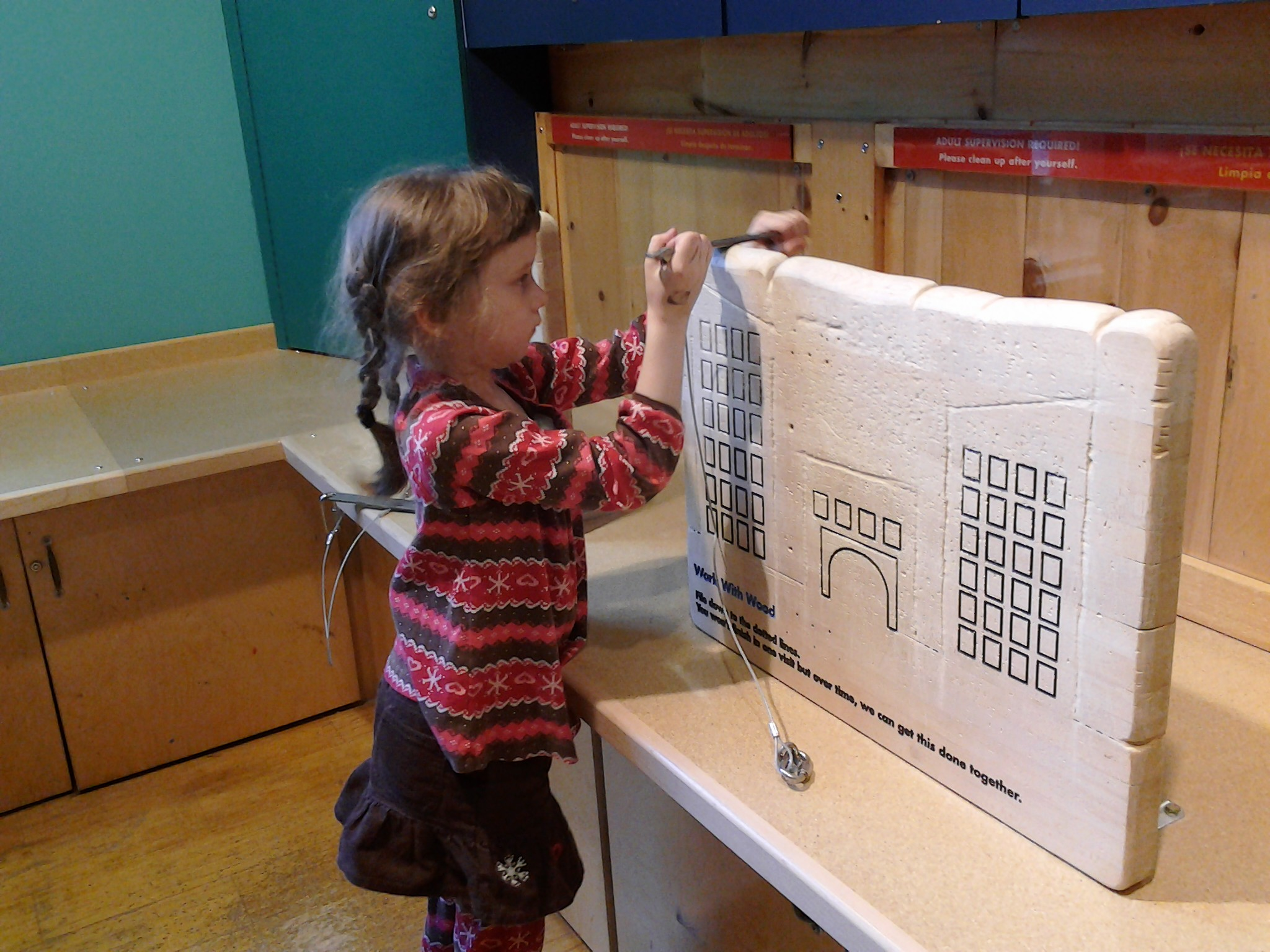 K carving at the Boston Children's Museum