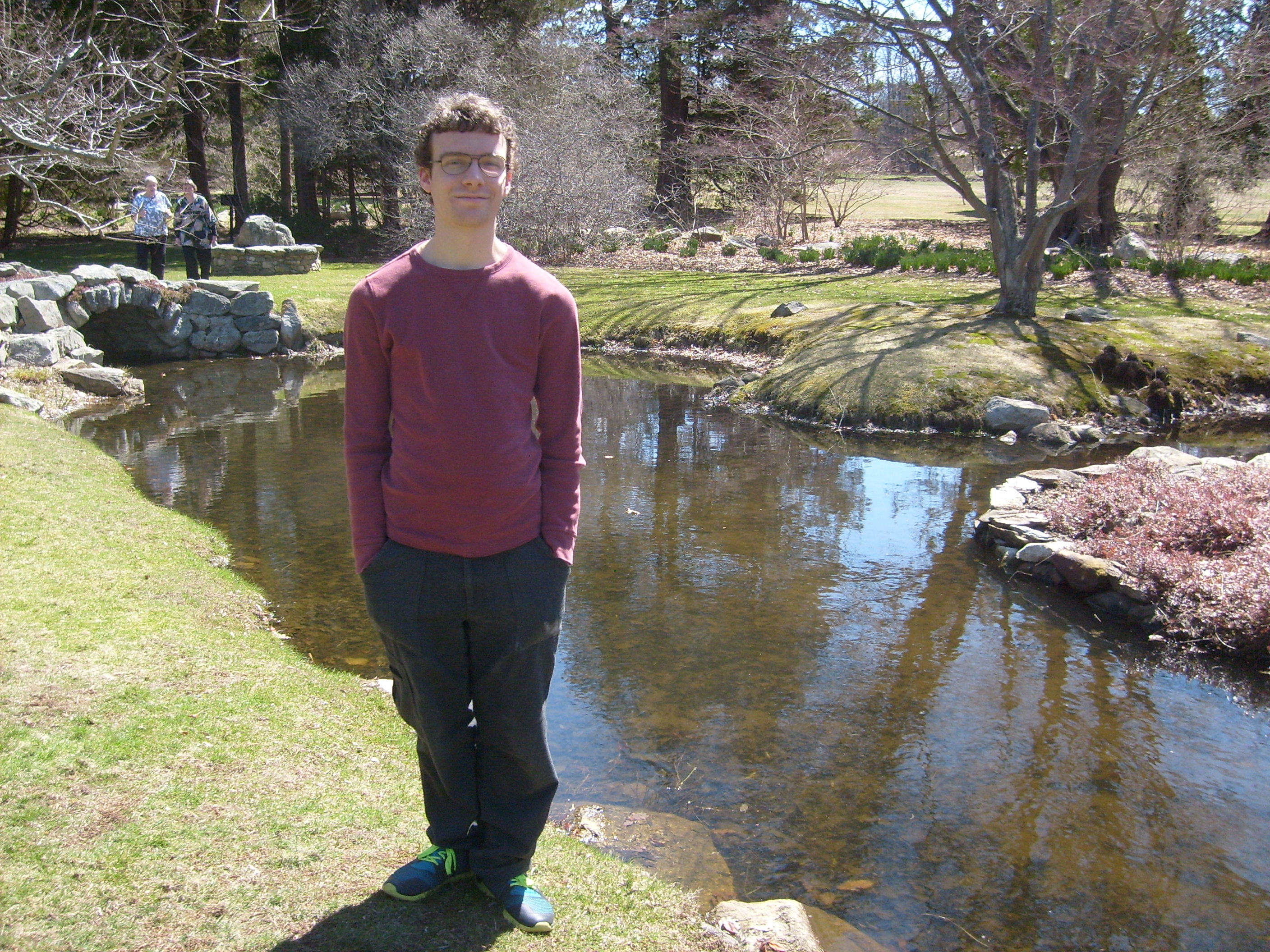 Ben by the koi pond