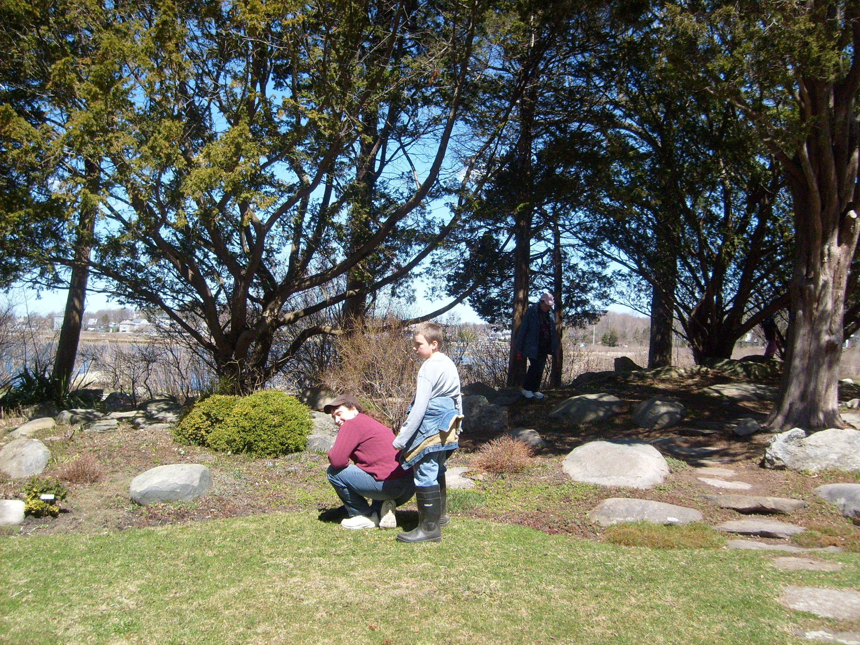 Me and M by the rock garden