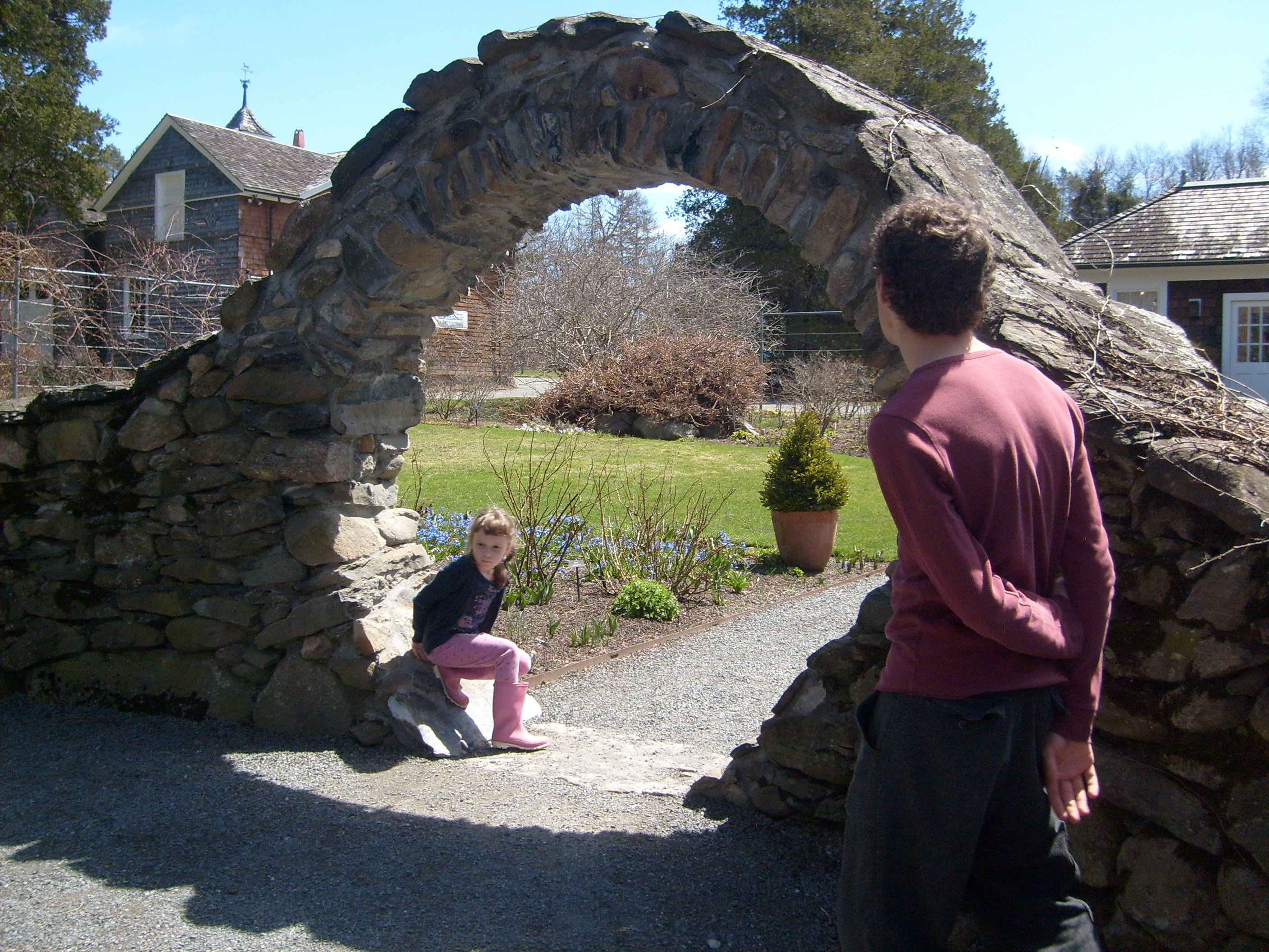 K and Ben in the Moon gate