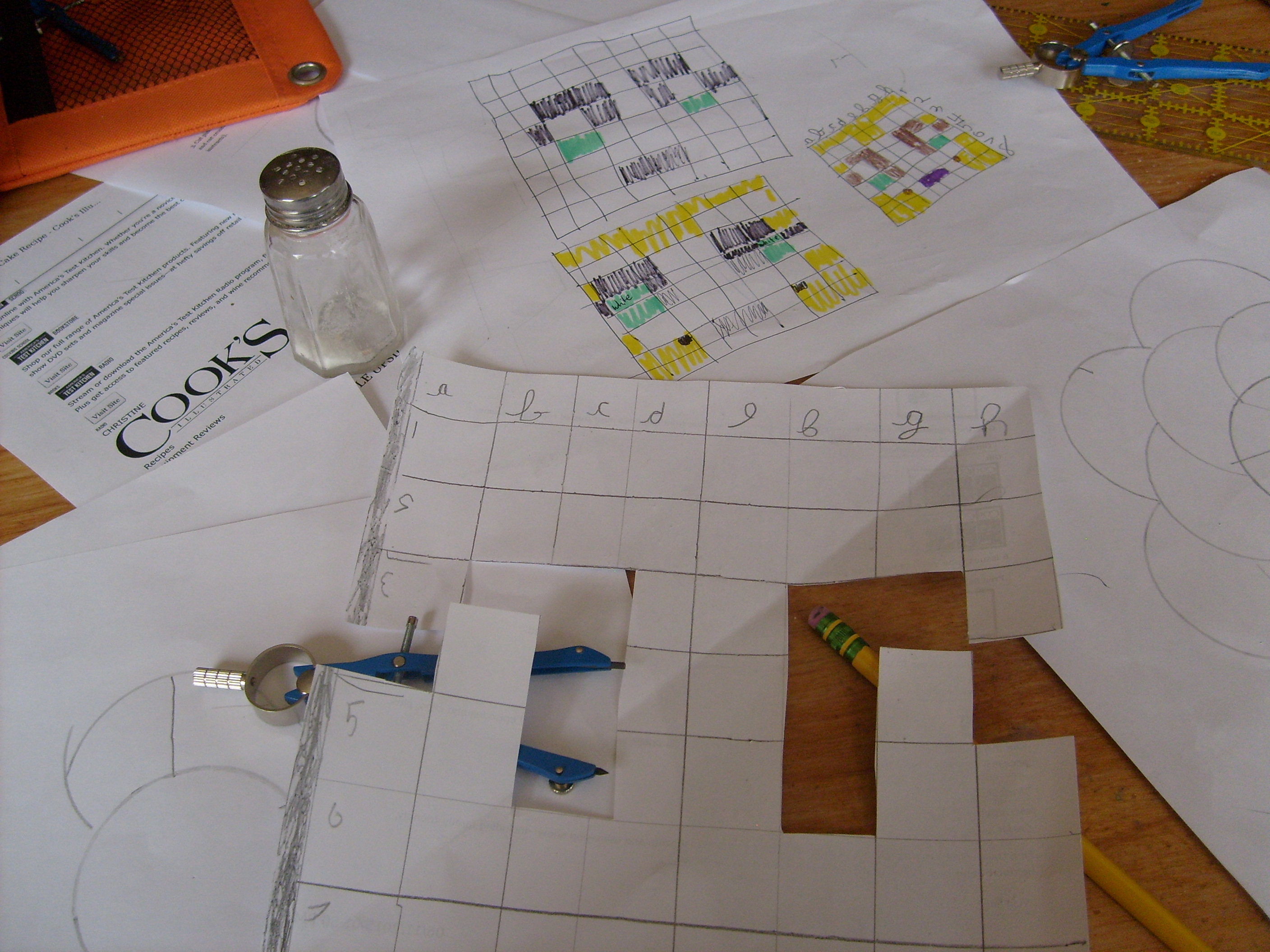 Stampy face grid and coco powder mask