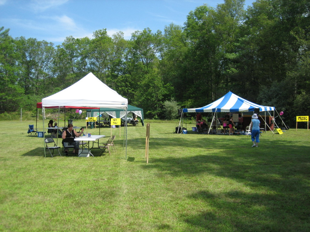 Games, Face Painting, Music Tent, and Book Table