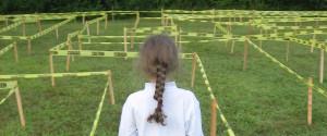 K. Walking through the Caution Tape Maze for the 2015 Family Fun Fair