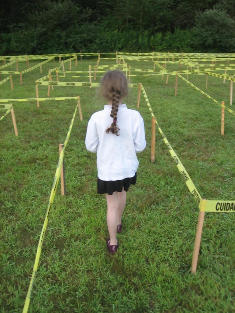 K Walking through the 2015 Caution Tape Maze