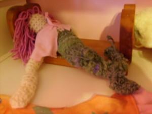K's crocheted mermaid