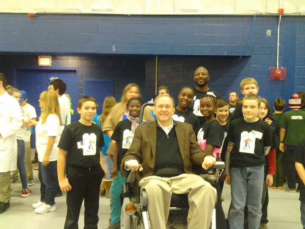 M's Lego team with RI Senator James Langevin