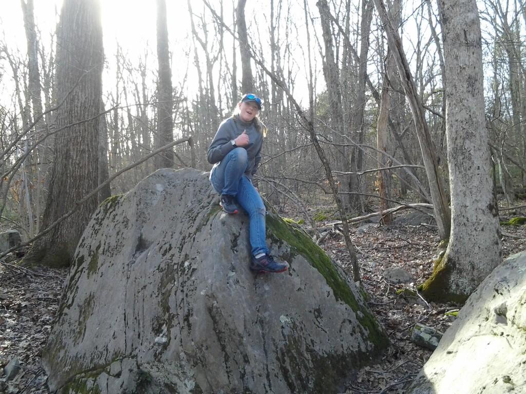 R on a rock