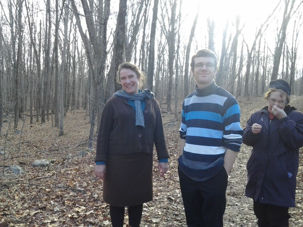 Me, Ben and Mom back in the woods