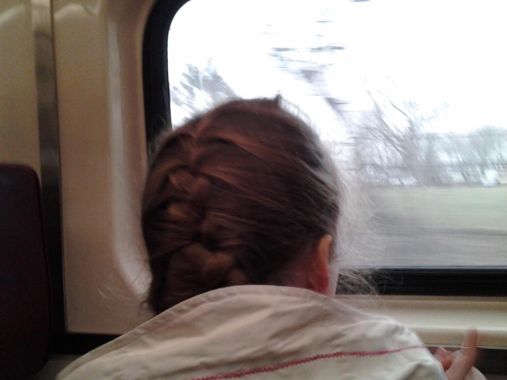 K on the train ride to Boston
