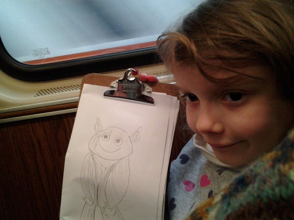 Drawing on the train-ride home