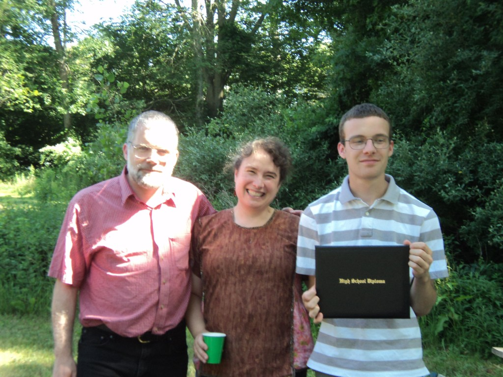 Dan, Chris and Ben with the Diploma