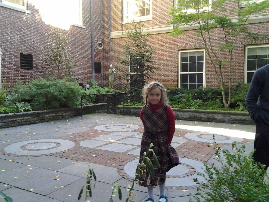 K in the art museum garden