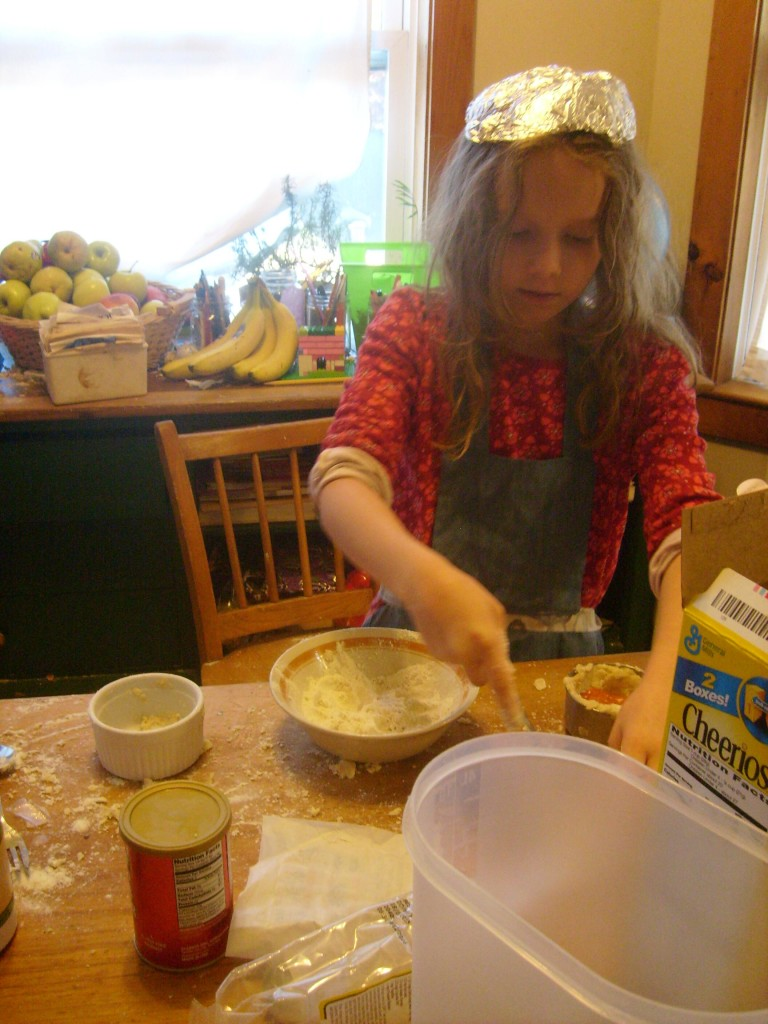 no one will read K's mind while she does baking experiments - she's wearing a tin hat.