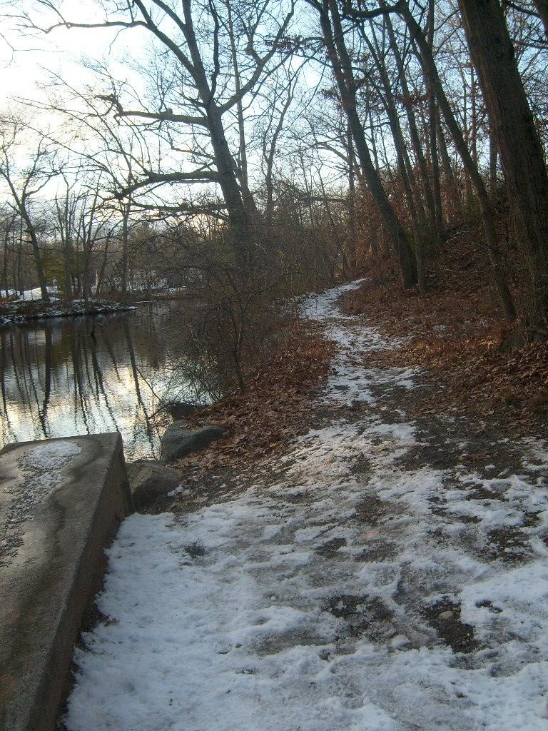 The path at Mechanic's Pond