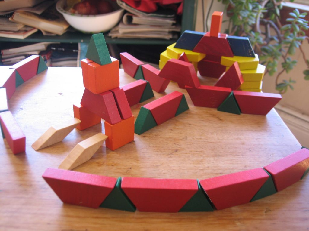 overview of K's pattern block palace